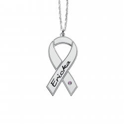 Breast Cancer Awareness Ribbon 15x30mm