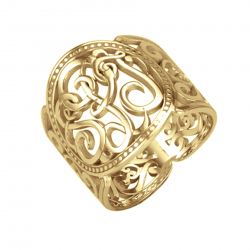 Classic Cigar Band Ring 18mm