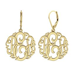 Classic Monogram Leverback Earrings 20mm
