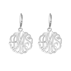 Classic Monogram Leverback Earrings 25mm