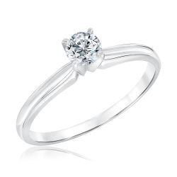 Classic Round Diamond Solitaire Engagement Ring 1/3ct