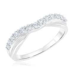 Ellaura Embrace Curved Diamond Band 1/2ctw