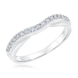 Ellaura Embrace Curved Diamond Ring 1/4ctw