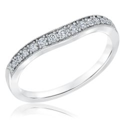 Ellaura Embrace Curved Diamond Ring 1/6ctw