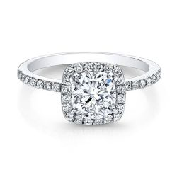 Forevermark Center of My Universe Cushion Diamond Halo Ring 1ctw