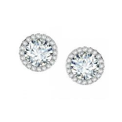 Forevermark Center of My Universe Diamond Halo Earrings 1 1/5ctw