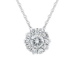 Forevermark Center of My Universe Halo Pendant 3/8ctw