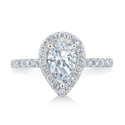 Forevermark Center of My Universe Pear Diamond Halo Ring 1 3/8ctw