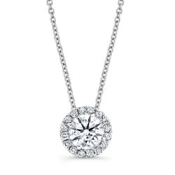 Forevermark Center of my Universe Round Diamond Halo Pendant 3/8ctw