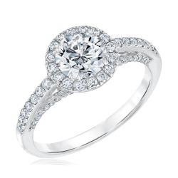 Forevermark Center of My Universe Round Diamond Halo Ring 1 1/2ctw