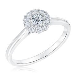 Forevermark Center of My Universe Round Diamond Halo Ring 3/8ctw
