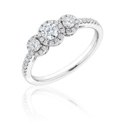 Forevermark Center of My Universe Round Three Diamond Halo Ring 1/2ctw