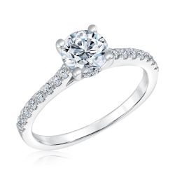Forevermark Diamond Hidden Halo Diamond Engagement Ring 3/4ctw