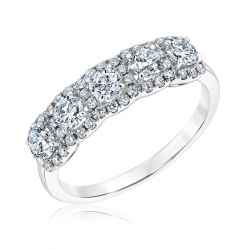 Forevermark Five Diamond Cushion Halo Anniversary Band 1ctw