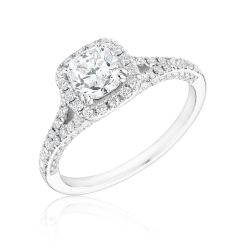 Forevermark Ideal Cushion Diamond Ring 7/8ctw