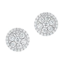 Forevermark Round Diamond Fashion Stud Earrings 1ctw