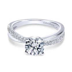Gabriel & Co. Morgan Diamond Semi-Mount Twisted Engagement Ring 1/5ctw