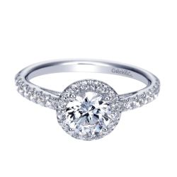 Gabriel & Co. Rachel Diamond Halo Semi-Mount Engagement Ring 3/8ctw