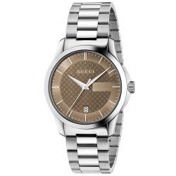Gucci G Timeless Chocolate Brown Dial Watch YA126445