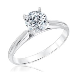 Heritage Round Diamond Solitaire Engagement Ring with GSI Grading Report 1 1/2ct