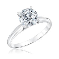 Heritage Round Diamond Solitaire Engagement Ring with GSI Grading Report 2ct