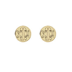 Interlocking Monogram Stud Earrings 10mm
