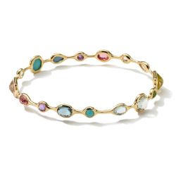 IPPOLITA Gold Rock Candy Bangle in Multi-Stone
