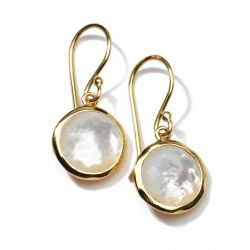 IPPOLITA Gold Lollipop Mini Earrings in Mother of Pearl