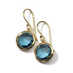 IPPOLITA Gold Lollipop Mini Earrings in London Blue Topaz