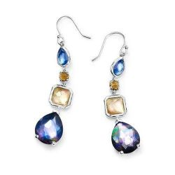 5d04f373e image of IPPOLITA Silver Rock Candy 4-Stone Drop Earrings in Positano with  sku: