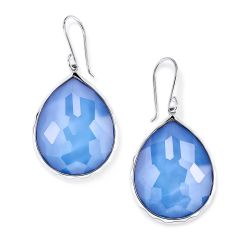 IPPOLITA Wonderland Large Teardrop Earrings in Nordic Blue