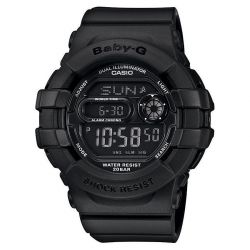 Ladies' Casio Baby-G Digital Matte Black Resin Watch BGD140-1A