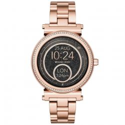 Ladies Michael Kors Access Sofie Rose Gold-Tone Stainless Steel Smartwatch MKT5022