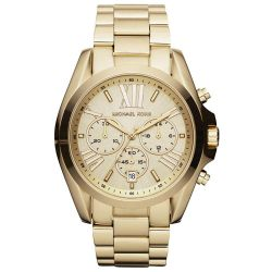 Ladies' Michael Kors Bradshaw Chronograph Gold-Tone Stainless Steel Watch MK5605