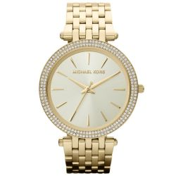 Ladies Michael Kors Darci Gold-Tone Stainless Steel Watch