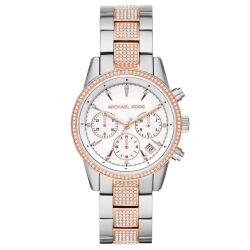 Ladies' Michael Kors Ritz Chronograph Two-Tone Stainless Steel Watch MK6651