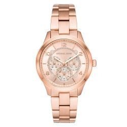Ladies' Michael Kors Runway Chronograph Rose Gold-Tone Watch MK6589