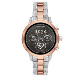 Ladies' Michael Kors Runway Pavé Two-Tone Smartwatch MKT5056