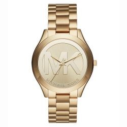 Ladies' Michael Kors Slim Runway Gold-Tone Watch MK3739