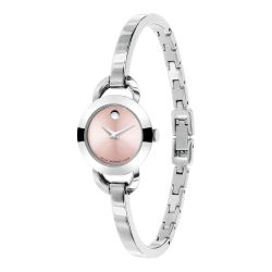 Ladies' Movado Rondiro Stainless Steel Pink Dial Watch 0606797
