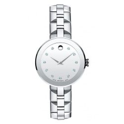 Ladies' Movado Sapphire Stainless Steel Watch 606814