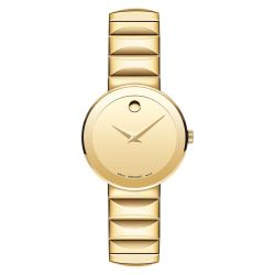 Ladies' Movado Sapphire Yellow Gold-Tone Stainless Steel Watch 0607214