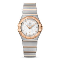 Ladies' OMEGA Constellation Diamond Silver Dial Two-Tone Watch O12320276052002