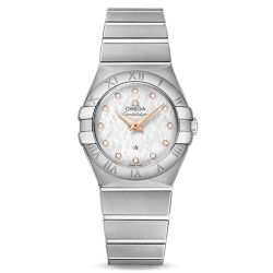 Ladies' OMEGA Constellation Diamond Stainless Steel 27mm Watch O12310276052001