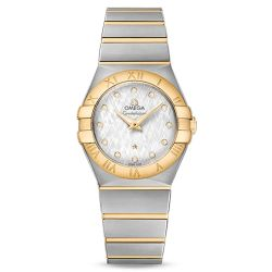 Ladies' OMEGA Constellation Diamond Two-Tone 27mm Watch O12320276052001