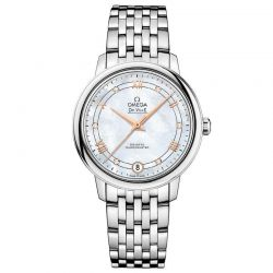 Ladies' OMEGA De Ville Prestige Co-Axial Mother-of-Pearl Dial Watch O42410332055002