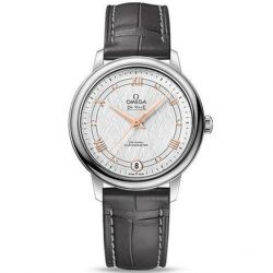Ladies' OMEGA De Ville Prestige Silver Dial Leather Strap Watch O42413332052001