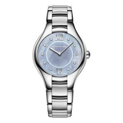 Ladies' Raymond Weil Noemia Blue Mother-of-Pearl Diamond Dial Watch 5132-ST-00955