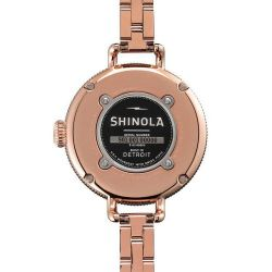 Ladies' Shinola 'The Birdy' Rose Gold Stainless Steel 34mm Watch S0110000209