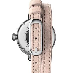 Ladies' Shinola 'The Birdy' White Dial Double Wrap Leather Strap Watch S0120141495